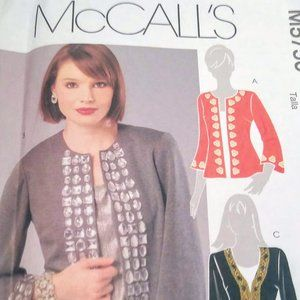 Sewing Pattern 3 Cardigan Styles McCall's XS-XL